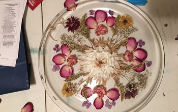 Pressed Flower Home Decor Tray