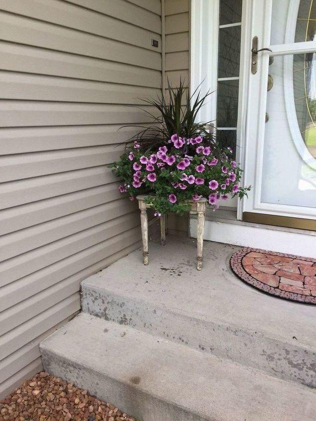 antique chair planter