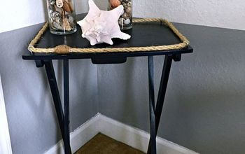 Nautical TV Tray Makeover