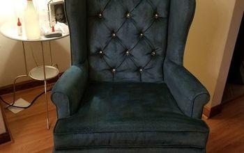 velvet armchair makeover