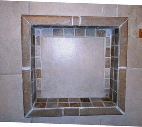 Delightful Q Ideas Re Tile Re Frame Shower Niche Shelve