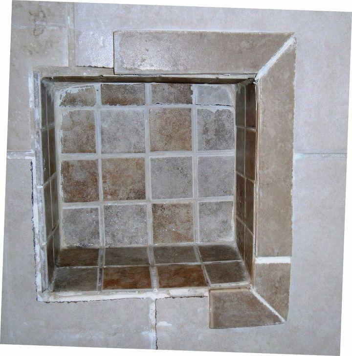 Ideas Re-tile/re-frame Shower Niche Shelve?