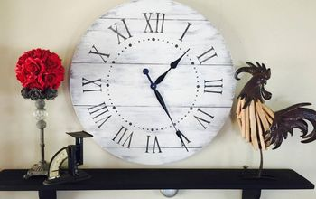 DIY Large Farmhouse Clock at a Not so Large Price !