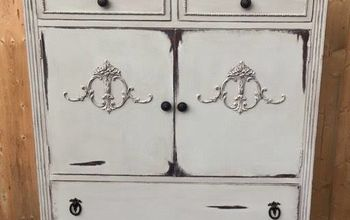 antique linen cabinet makeover
