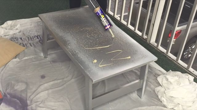 diy mirrored coffee table