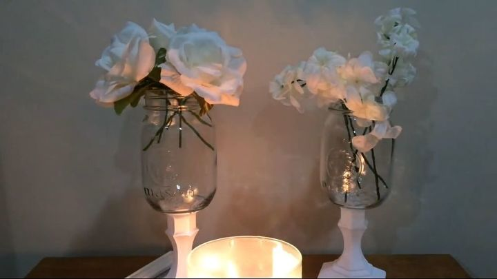 Diy Mason Jar Vases Farmhouse Style Easy Affordable Hometalk