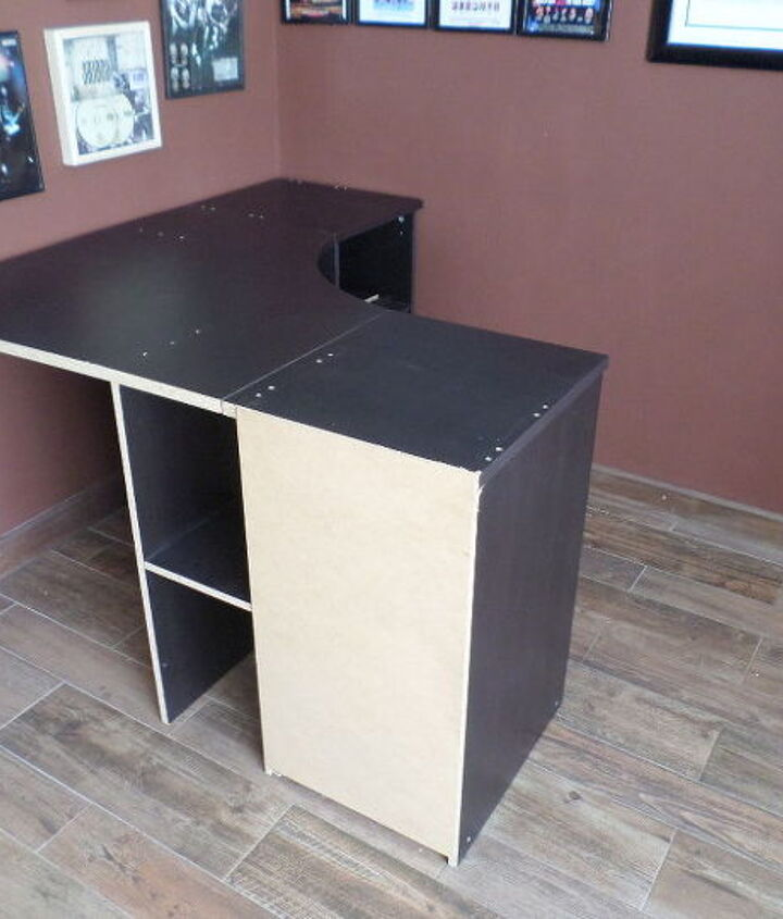 old desk home bar
