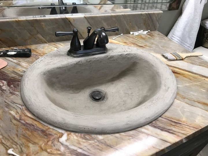 After two coats and paint on faucet