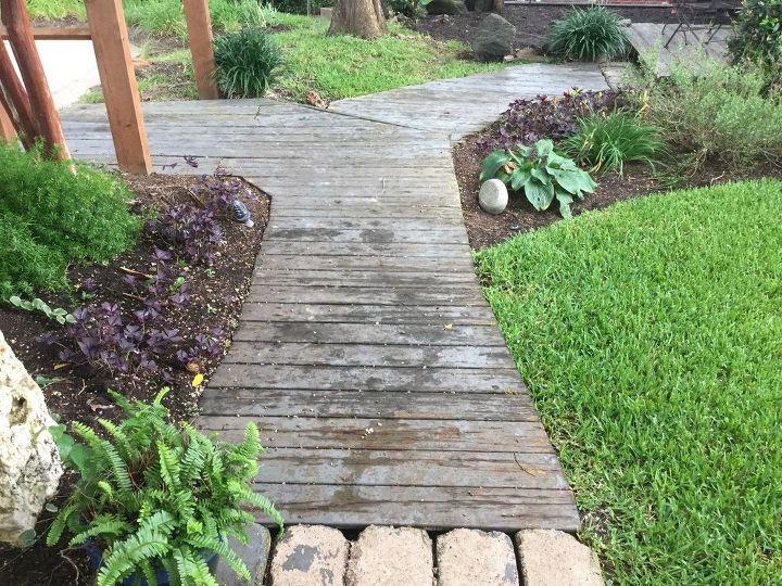 q repairing walkway ideas