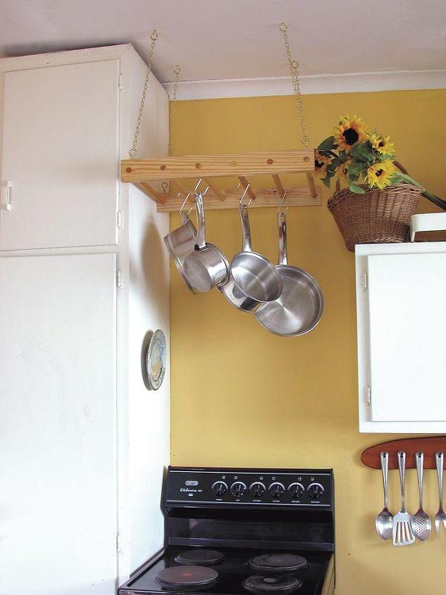 Diy Wooden Hanging Pot Rack
