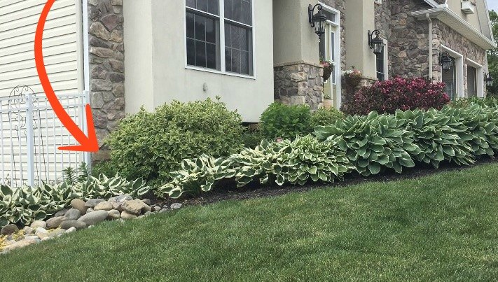 you re about to be obsessed with this sloped yard idea