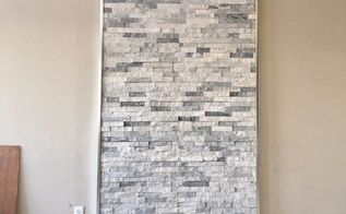 diy wood stove quartz ledger accent wall