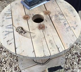 turn a dusty cable spool into a