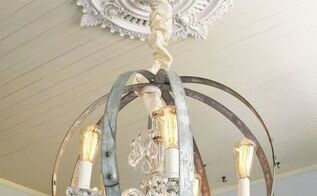 make your own caged orb chandelier an easy diy