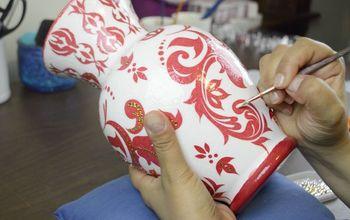 Vase Decor With Paper Napkins & Mod Podge | Decoupage