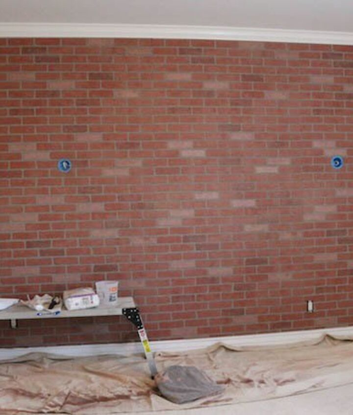 how to create a fake brick wall