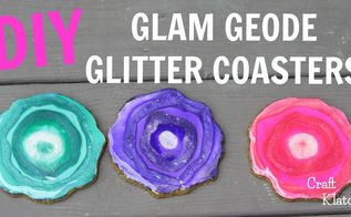 glam geode coasters home decor