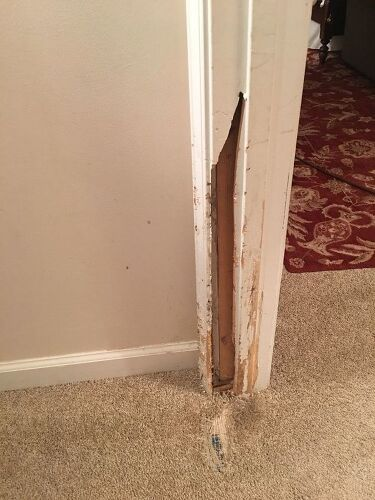 Door frame quick fix? | Hometalk