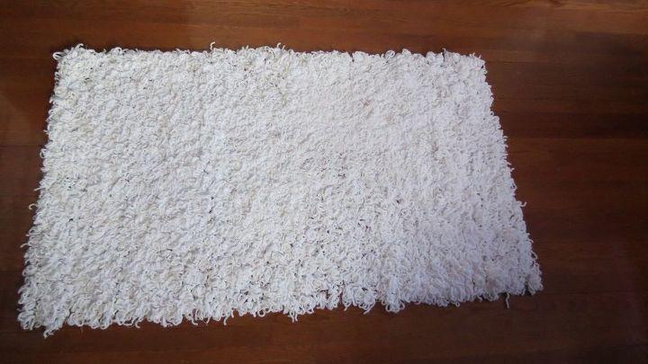 diy white area rug
