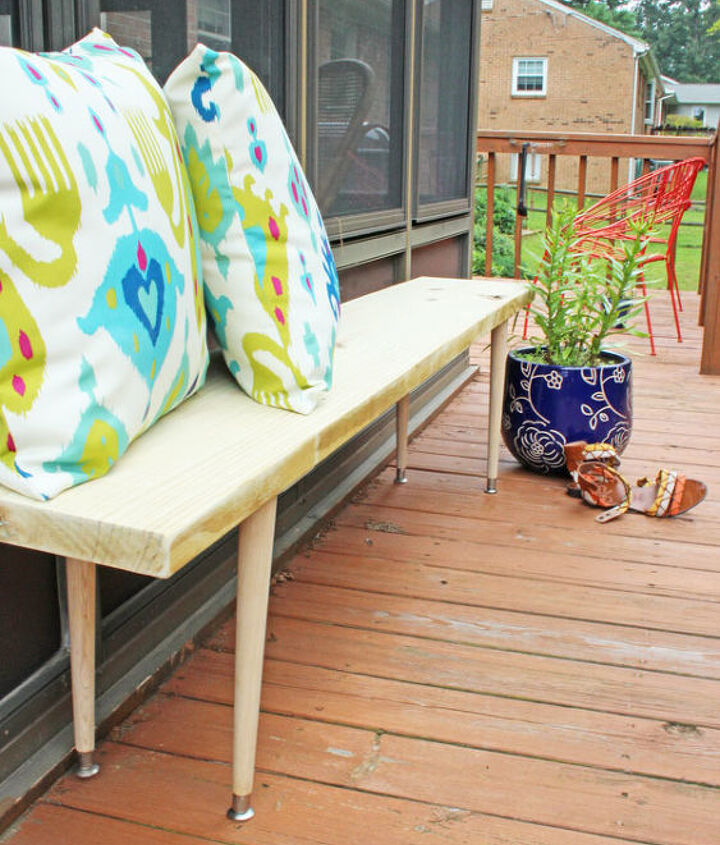s 10 lovely benches you can build for your backyard and relax on, Use A Simple Bench Design In The Backyard