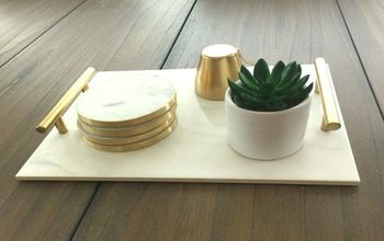 How to DIY Marble Tray  - Easy + Cheap +Quick
