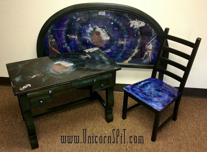 s 11 fascinating spit table makeovers your home needs right now, Design A Galaxy Worthy Star Wars Table