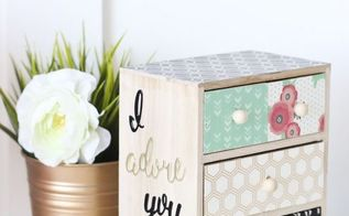 decoupage mini chest of drawers