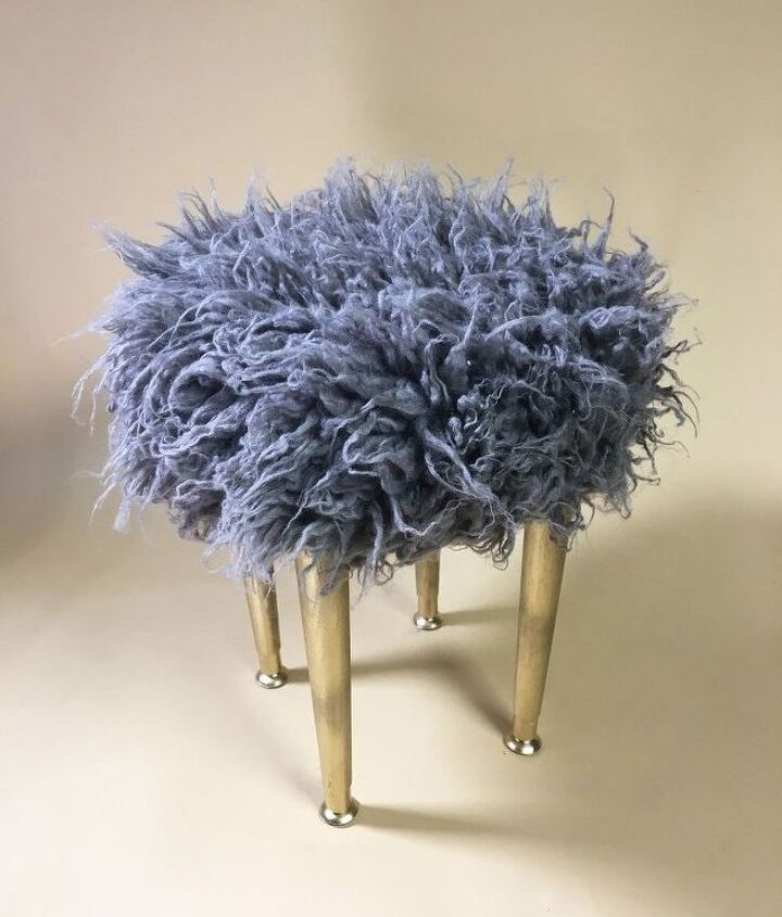 s 12 amazing ottomans you and your family can make and enjoy, Recreate A West Elm Shaggy Ottoman
