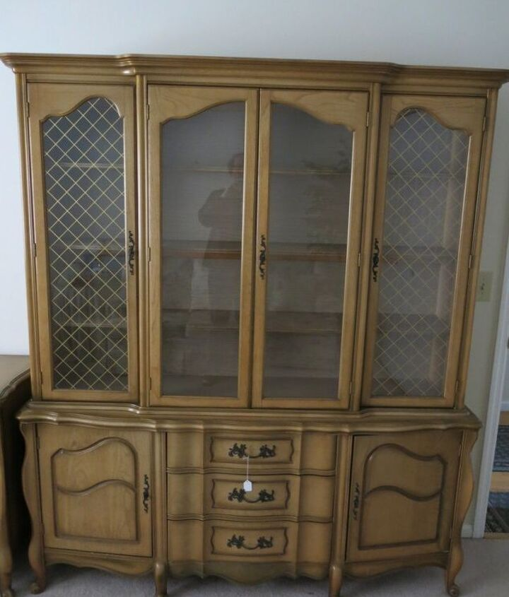 French Provincial China Cabinet Hutch