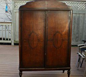 Attractive Romantic Vintage Armoire