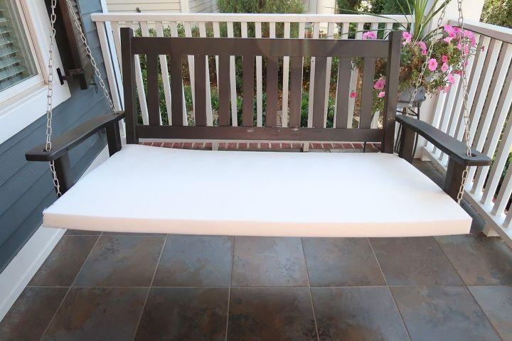 porch swing update upholsterd seat