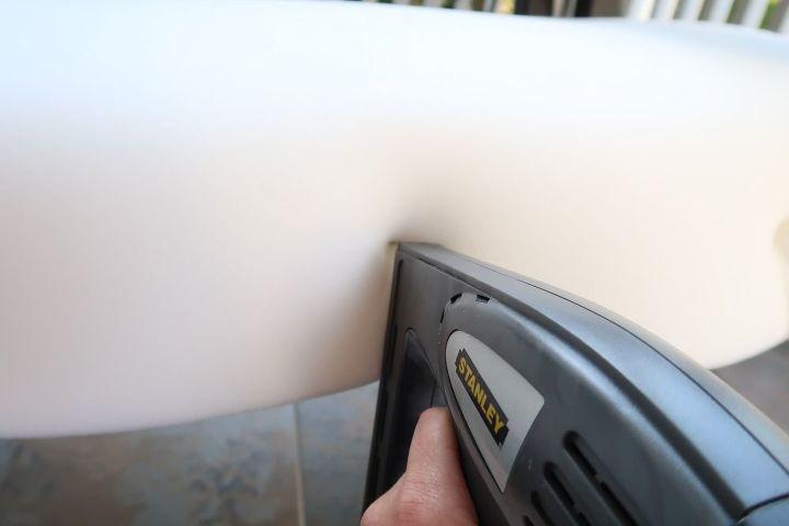 Stapling the foam