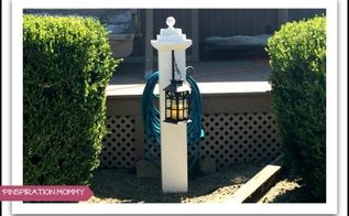 diy hose holder and lantern hanger