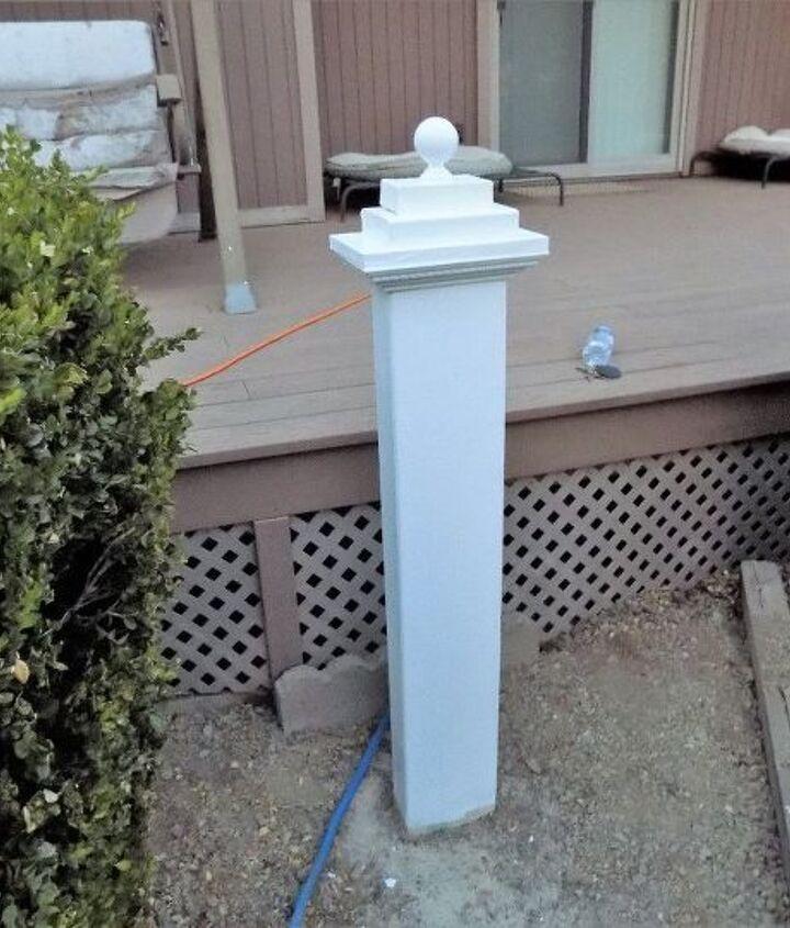 diy hose holder and lantern hanger