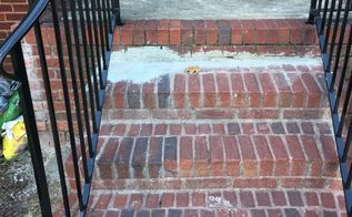 q how can you remove excess concrete mortar from brick