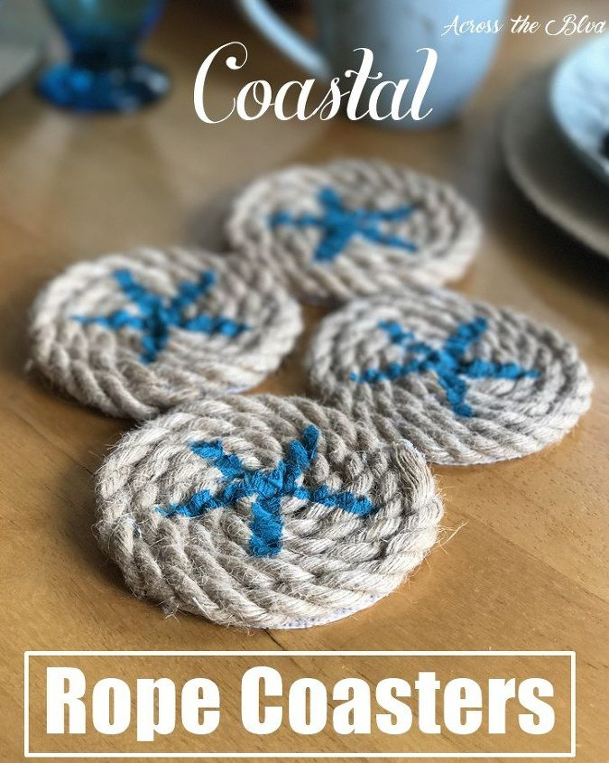 coastal starfish rope coasters