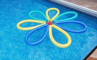 pool noodle flower float