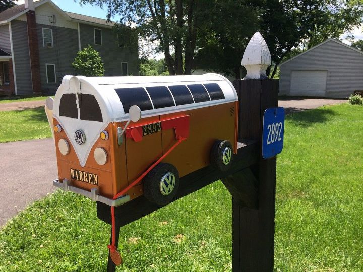 s try these gorgeous ideas and the mailman will never miss your mailbox, Have A Groovy VW Van Mailbox
