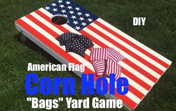 DIY Patriotic Themed Corn Hole Bags Backyard Game Board