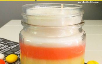 Get Ready for Fall; Candy Corn Candle DIY!