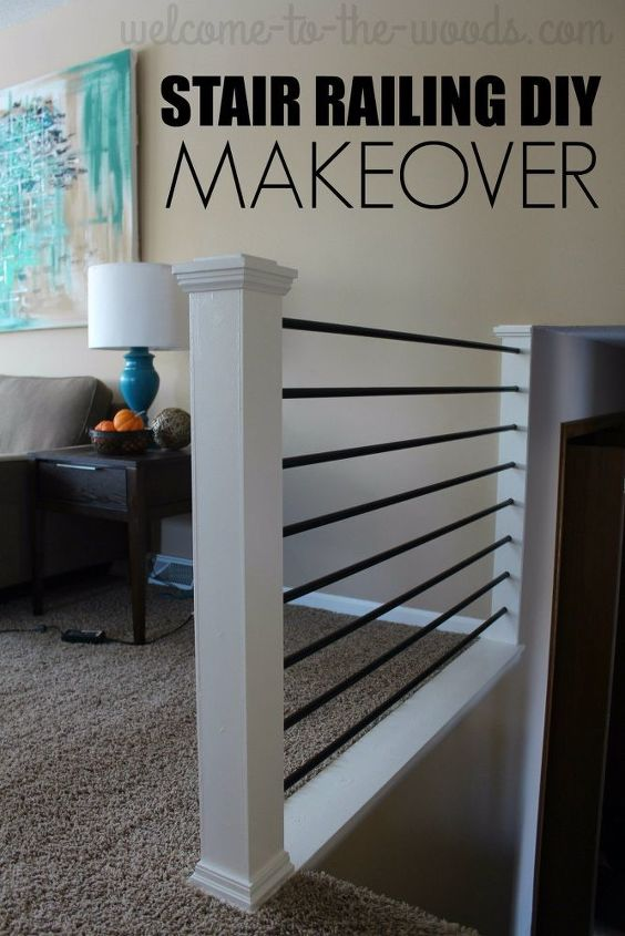 stair railing diy makeover