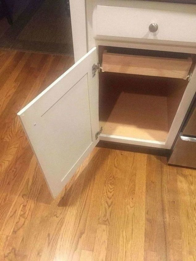 built a custom tray divider storage unit into my existing cabinet
