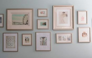 easily update picture frames with spray paint