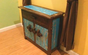 shabby chic cabinet blue and