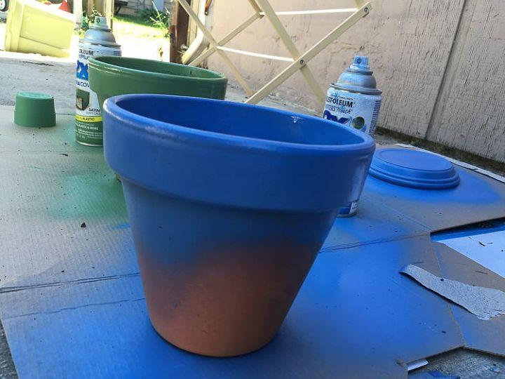 update a terracotta pot for summer
