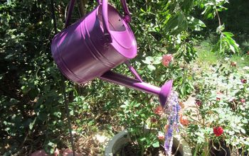 faux watering can
