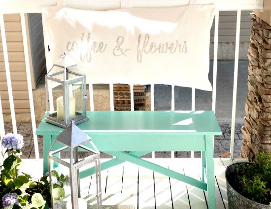 diy outdoor bench with pretty soft cushion back