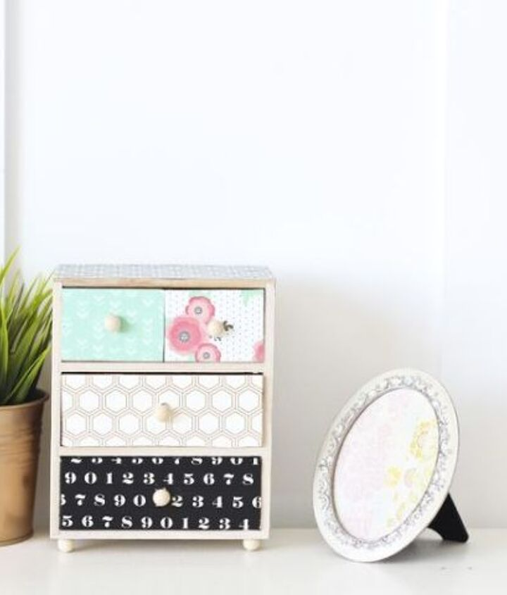 s 26 wonderful ways you can use scrapbooking paper, Give Your Drawers A Stylish Upgrade