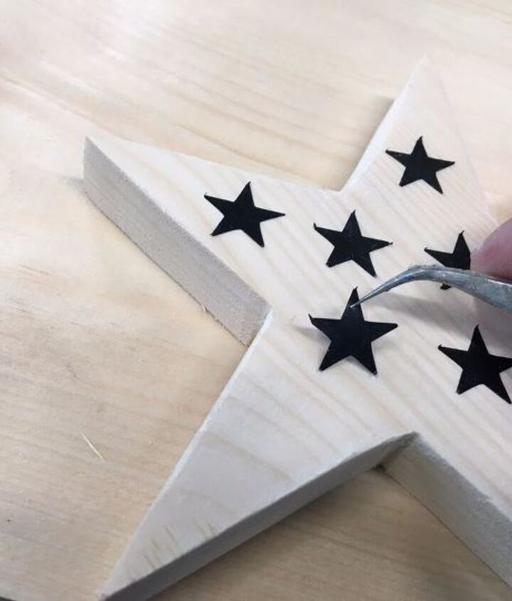 diy stars and stripes wood stained patriotic wall or