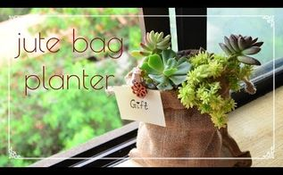 grow plants in a jute bage planter